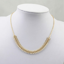 Hot Fashion Gold Color Chain  and Long Strip Pendant  Jewelry   Necklaces