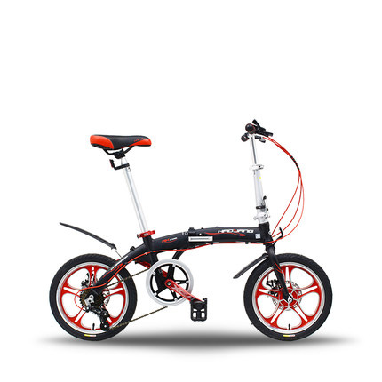 TB03 16 inch aluminum alloy folding bicycle one wheel speed ultra light portable mini student