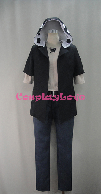 2016 Custom Made Black Kagerou Project Shuuya Kano Cosplay Costume