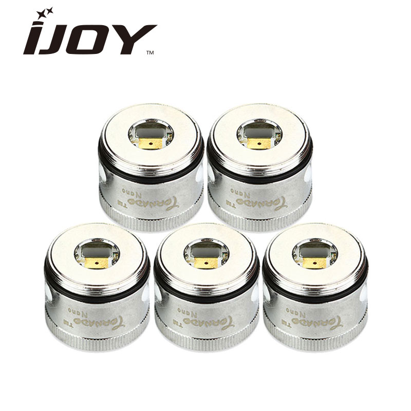 Original 5pcs IJOY Tornado Nano Chip Coils 0.3ohm/0.6ohm Replacement Atomizer Head Coil-L LED Light for Tornado Nano RTA Tank