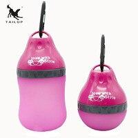 TAILUP 높은 품질의 개 피더 공급 야외 하이킹 여행 플라스틱 식품 용기 물 병 2 1 애완 동물