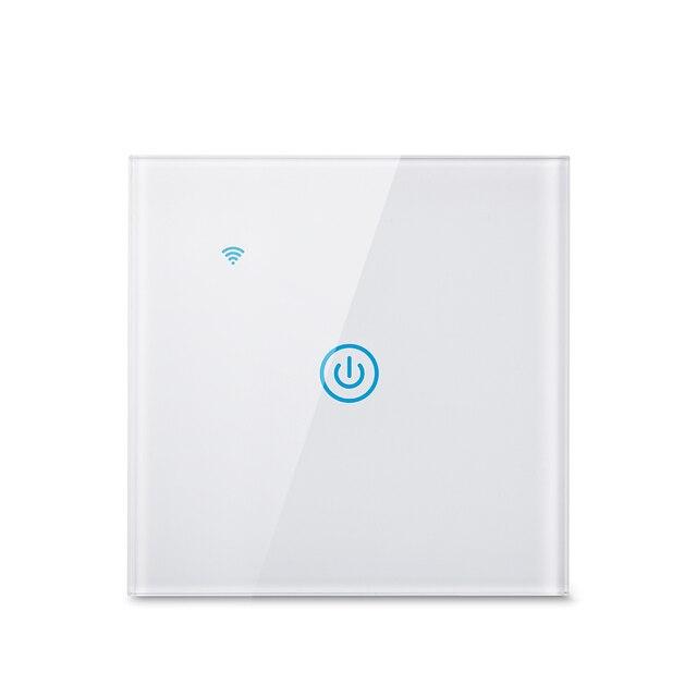 Wifi קיר מגע מתג האיחוד האירופי ניטראלי חוט הנדרש חכם אור מתג 1 2 3 כנופיית 220V חכם חיים בית תמיכה Alexa Google בית