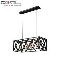 ECOBRT Винтаж металлические подвесные светильники промышленный Декор железная клетка подвесной светильник Лофт Hanglamp для бара ресторан иссле