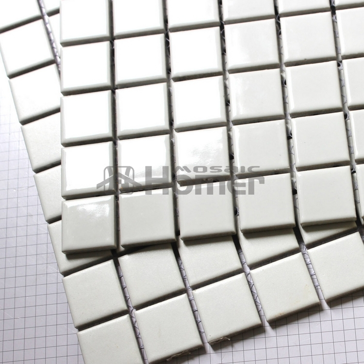 25x25mm Clic Matt White Square Ceramic Mosaic Block Pattern Bathroom Tiles For Floor And Wall In Stickers From Home Garden On