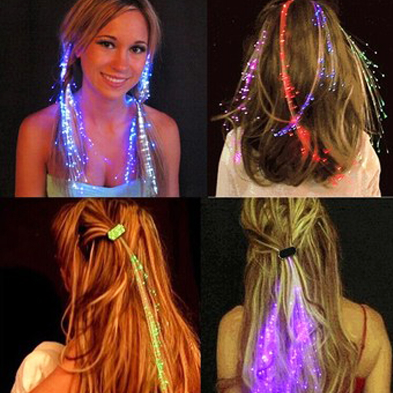 Girls Led Light Flashing Hair Braid Glowing Luminous Toys For Children Hairpin Novelty Fun Kids Outdoor Theme Party Toys Gift
