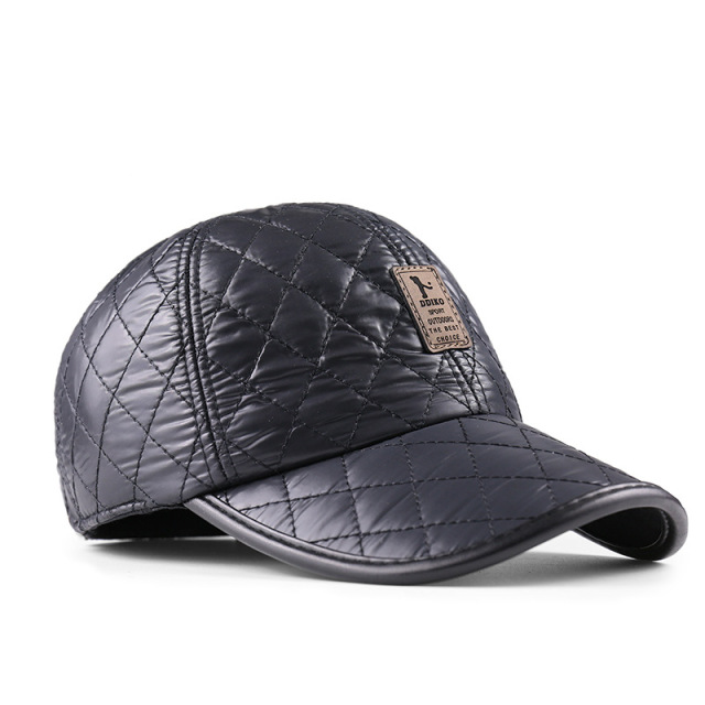 2016 новый Теплая Зима Бейсболка Мужчины Уха Защита Gorro шляпы бренд Snapbak Твердые Кости бейсболка Мужчины Зима Теплая для Мужчин