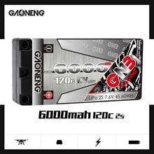 Gaoneng GNB 6000mAh 2S 7.6V HV 120C/240C Hardcase שורטי LiPo סוללה עבור 1/10 RC רכב B5M 22 RB6 22T SCT מכונית מרוץ חלקי