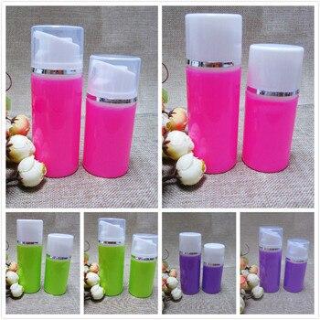 80ML 2.7/2.8 FL.oz pink/green/purple plastic airless bottle for lotion/foundation/emulsion/serum/cream/gel/essence skin packing