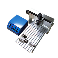 mini cnc milling machine 4axis 6040 wood cutter with 500W spindle and free  vise collet drilling kits