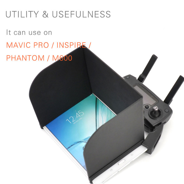 PGYTECH DJI Mavic pro Tablet Pads Sun Hood Shadow Cover for DJI Spark Phantom 3/4 pro Remote Hood for iPads air for Samsung