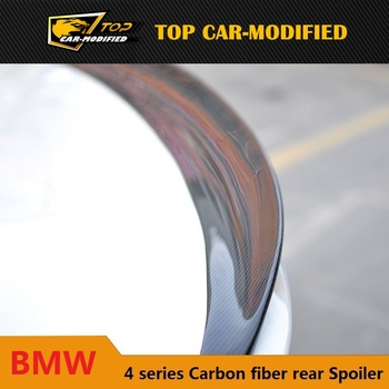 Free shipping P Style carbon fiber Rear Trunk Spoiler Wing for BMW 4 series F32 420i 428i 435i 2013up
