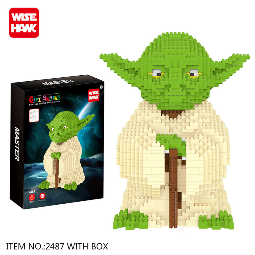 wisehawk nano star wars yoda building blocks big size characters figure educational toys diy assembly micro brick christmas gift in blocks from toys