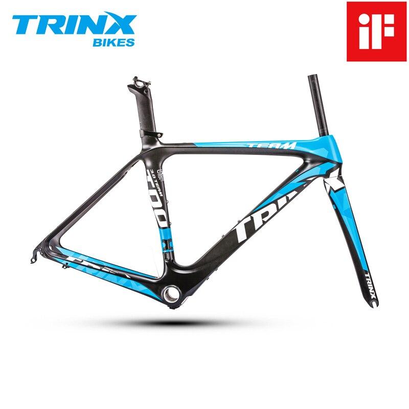 Trinx aero fibra de carbono quadro da bicicleta estrada 700c luz quadro da bicicleta se design prêmio ciclismo quadro aerodinâmica peças