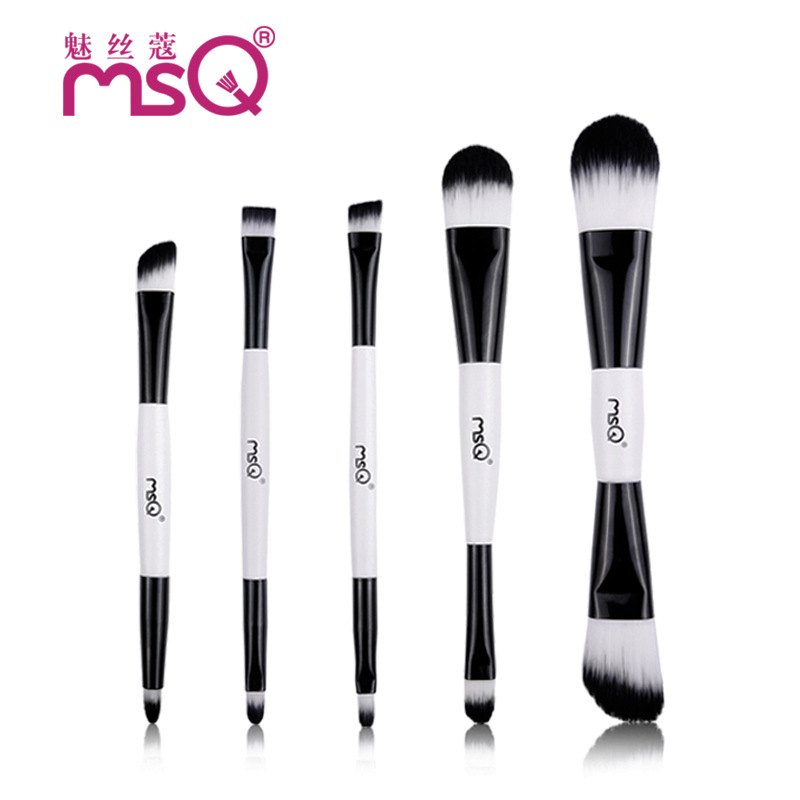 Makeup Brushes 5Pcs/Set New Design Professional Synthetic Hair Foundation Eye Shadow Blusher Make up Cosmetics Tools Wood Handle