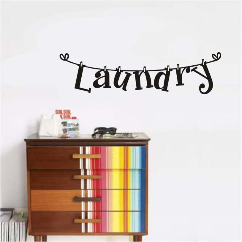 Home Decor Laundry Room Wall Sticker Home Decor Popular Vinyl Removable Art Decal wall sticker Home Deco mirror AU2
