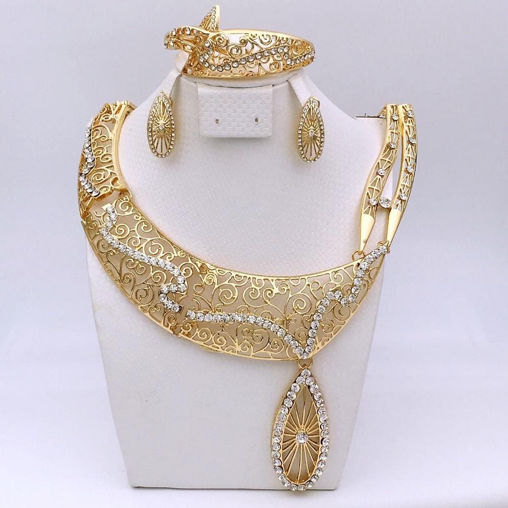 Top quality indian abrab dubai ethiopian arabic jewelry set african beads jewelry set parure bijoux femme