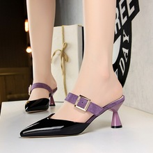 Heels Women Mary Jane Shoes Office Lady Shoes Beige Low Heel Pumps Ladies Summer Sandals Chaussure Mariage Femme 40 Camel Spring
