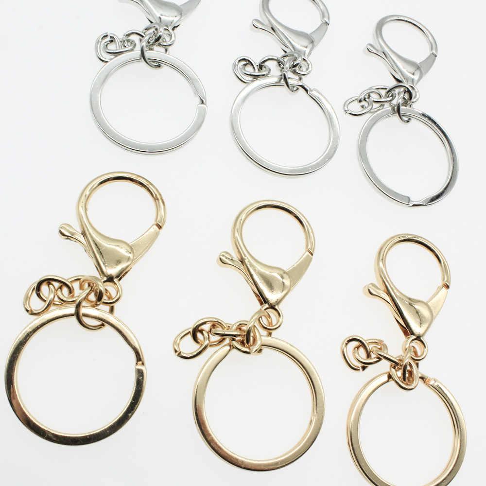 5 pçs moda ouro prata chaveiros anel jóias fazendo diy acessórios peças saco encantos chaveiro do carro trinket atacado