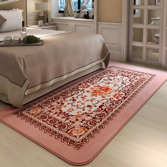 Beautiful Honlaker European Pastoral Bedroom Bedside Carpet Living Room Table Sofa Long Rugs and Carpets Picture - Latest rug for bedroom Simple Elegant