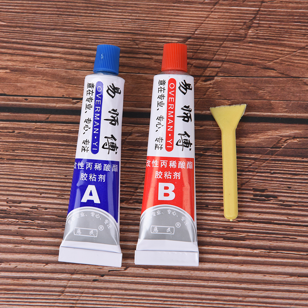 Superior 2pcs(A+B) Glue Modified Acrylic Glue Adhesive for Metal Plastic Wood Crystal Glass Jewellery Strength Kafuter