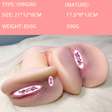 Silicone Artificial Vagina Sex Products For Men Double Hole Realistic Vagina Anal Fake Pussy Male Masturbators 3D Adult Toy