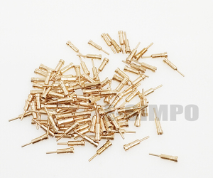 Image 3 - 1000pcs עגול פין, נקבה פין שקע פין Dim0.45 0.6mm, ללא פלסטיק עבור 2.54 חור פין שקע