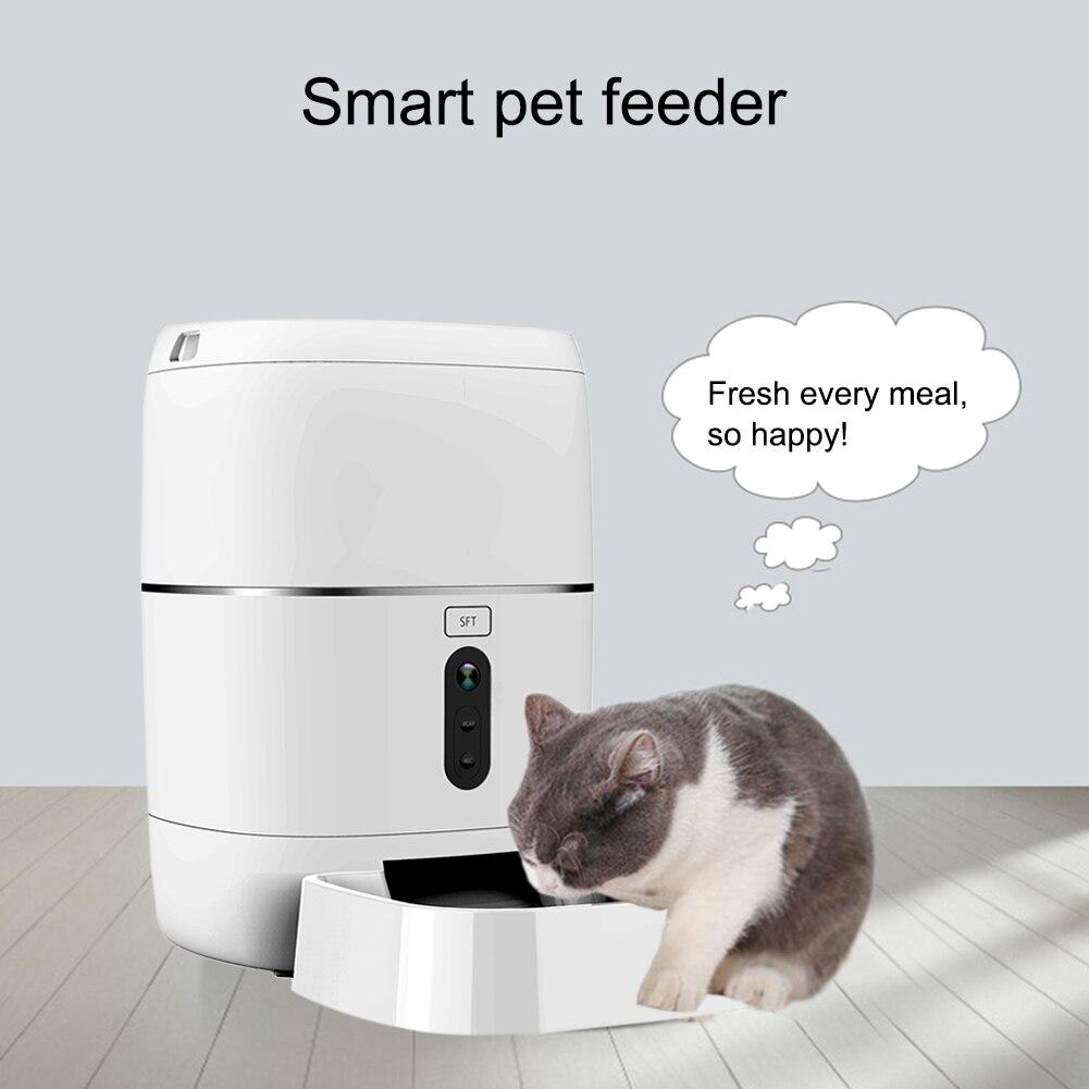 Mangeoire pour animal domestique Wifi Télécommande Mode Smart bol automatique pour animal de compagnie Chien Chat Nourriture Rechargeable Avec Moniteur Vidéo De Haute Qualité