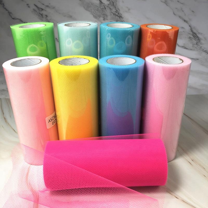 25 Yards 15cm Tulle Roll Fabric Spool Tutu Wedding Decoration Baby Shower Organza Laser DIY Crafts Birthday Party Supplies.q