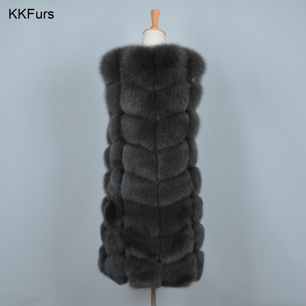 JKKFURS 2019 New Arrivals Women 39 s Real Fox Fur Vests Women Fashion Gilets High Quality Thick Warm Winter Fur Coat S7251 in Real Fur from Women 39 s Clothing