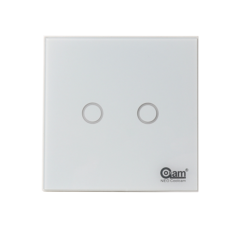 NEO Coolcam Smart Home Z Wave 2CH EU Wall Switch Sensor Compatible with Z wave 300 series and 500 series Home Automation in Building Automation from Security Protection