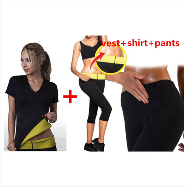 df23920f8d New Hot Shapers neotex T shirts Slimming Shapers Stretch Neoprene Fitness  Body Shaper top with panties