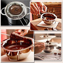 Chocolate Candy Melting Pot Electric Fondue Fountain Machine Kitchen Handmade Party Tools baking tools chocolate melting furnace diy handmade chocolate mechanical and electrical heating melting pot
