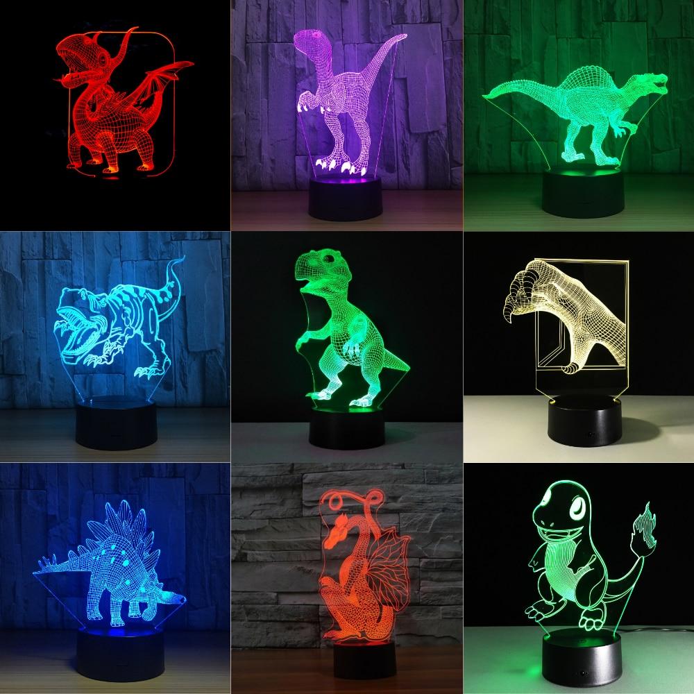 Baby Lamp LED Lamp Dinosaur 7 Color Change Bulb Decoration Kids Gift Night Light Sleeping Lava Lamp Holiday Lighting Boys Gifts