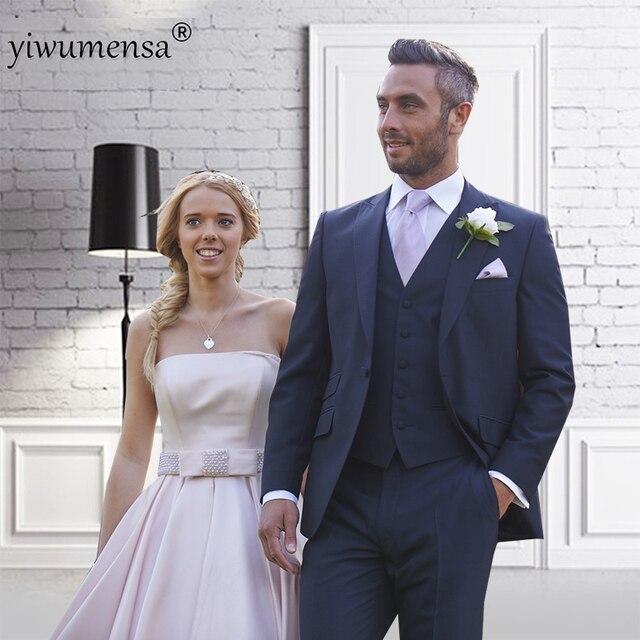 yiwumensa Design Custom Made Navy Blue Wedding Suits slim fit blazer ...