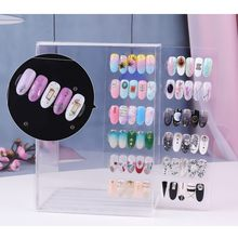 Acrylic 5Layers 60 Grid Magnetic Adsorption Removable Nail Work Table Nail Holder #30(China)