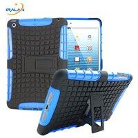 Bilgisayar ve Ofis'ten Tabletler ve e-Kitaplar Kutu'de Yeni Ağır Darbe Hibrid ipad kılıfı Mini 1 2 3 7.9 inç Tablet Standı Sert + pu + PC + TPU kauçuk kapak + stylus + Ekran filmi
