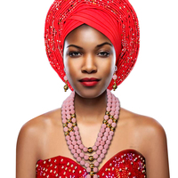 Classic Womens Pink Beads Necklace African Wedding Beads Bridal Jewelry Set New Wedding African Jewelry Sets for Women Fashion