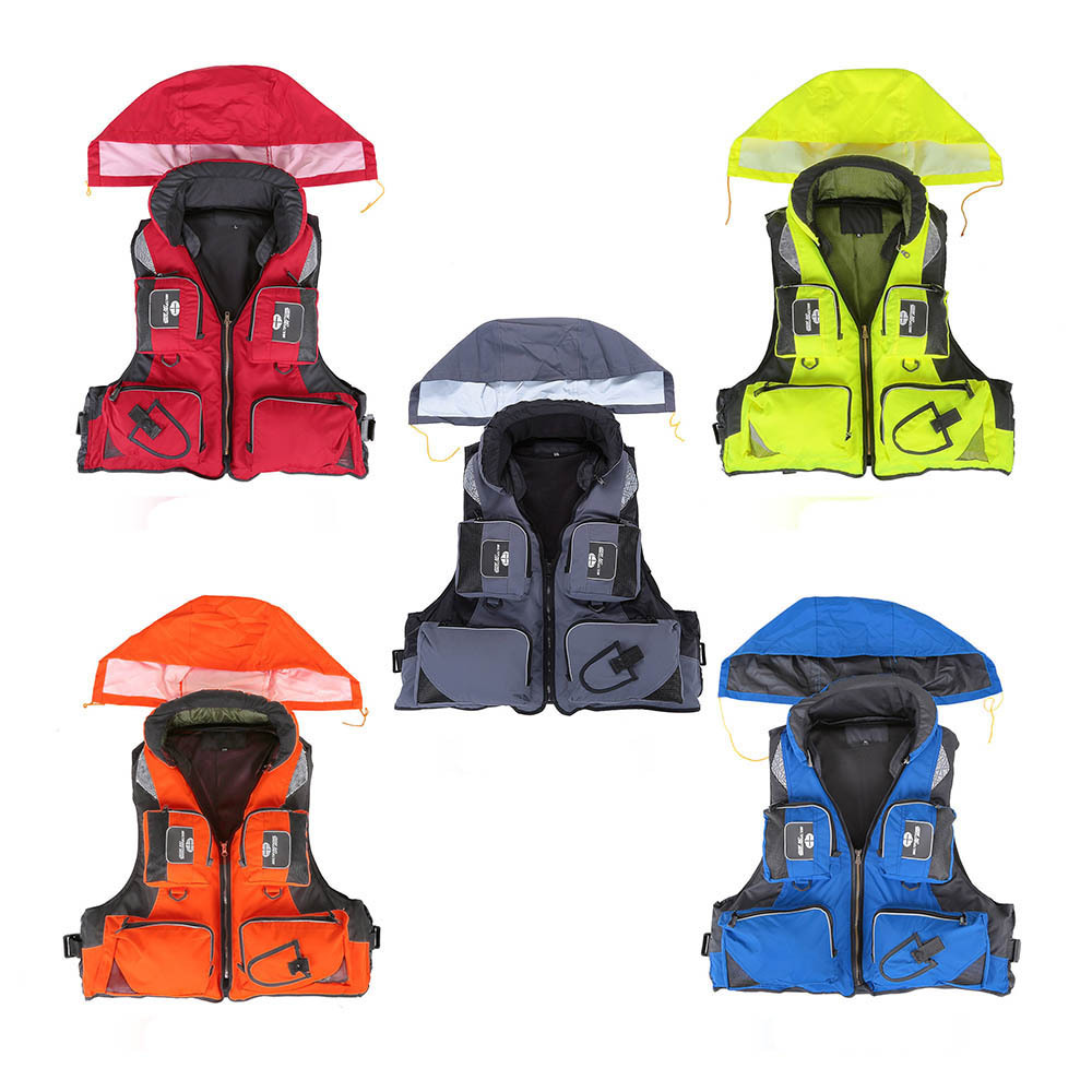 Fishing Vest Adjustable Portable Mutil Pocket Outdoor Sport Life Safety Jacket Cycling Swimming Sail Fishing Clothes-in Fishing Vests from Sports & Entertainment