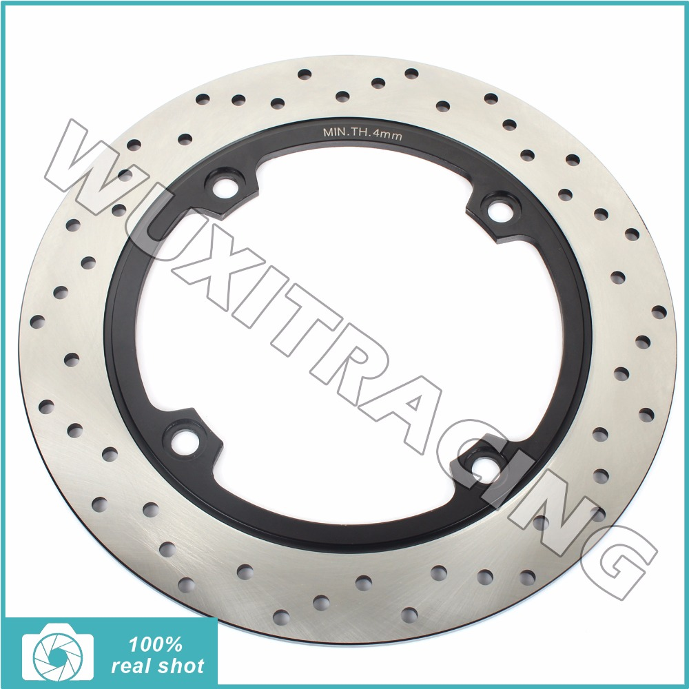 Round New Rear Brake Disc Rotor for SUZUKI DL 650 V-Storm X Traveller / ABS 04 05 06 07 08 09 10-12  DL 1000 V-Storm  2002-2012 rear brake disc rotor for yamaha fz1 non abs 06 09 fz6 naked non abs 04 07 fz6 ns naked 05 06 motorcycle