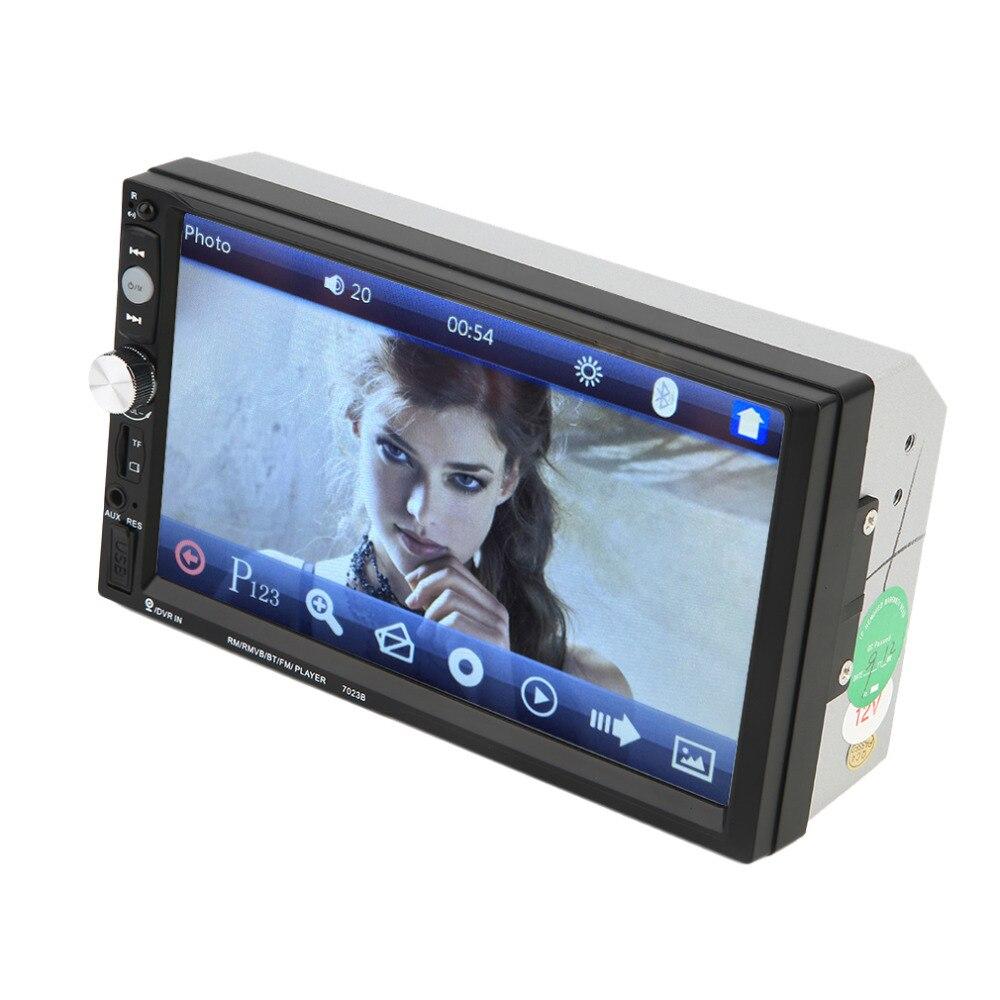 7023b Авто двойной Дин dvd-плеер 12 В 4*45 Вт 7 дюймов touch scrren media Радио bluetooth плеер заднего вида Камера Вход