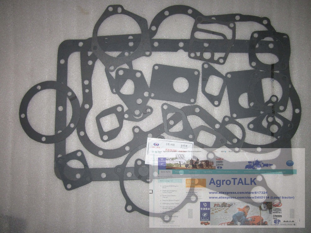 YTO DFH8090 tractor parts,the cylinder head gasket for Engine LR4105T57, part number: laidong km4l23bt for tractor like luzhong series set of piston groups with gaskets kit including the cylinder head gasket