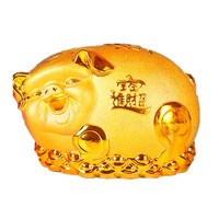 Ceramic gold pig piggy bank gift creative piggy bank, parlor shop opening and giving gift to children's room decorations