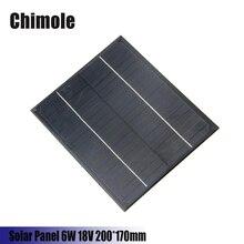Chimole 6W 18V 200*170mm DIY solar panels monocrystalline silicon PET + EVA Laminated Mini Solar Panel For Solar System