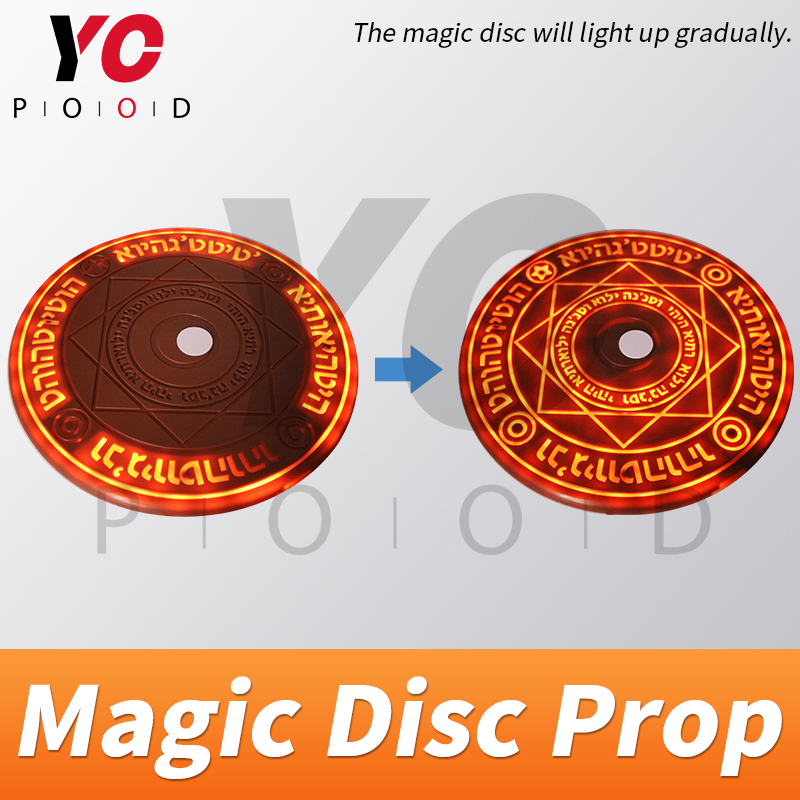 Image 2 - YOPOOD Magic Disc Prop Escape Room Real Life game use RFID card to trigger magic array be bright gradually until open takagism-in Access Control Kits from Security & Protection