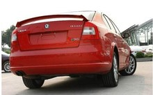 Fixed punching installation for 2006 to 2014  SKODA Octavia rear trunk wings spoiler by white black primer