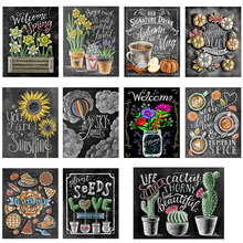 Full round diamond 5D DIY painting blackboard text embroidery cross stitch mosaic home decoration gift
