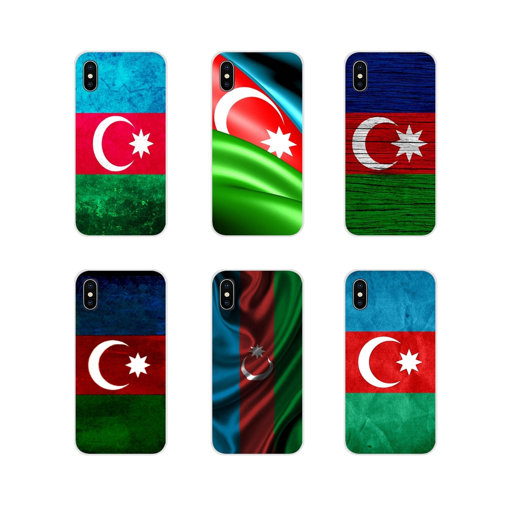 Azerbaijan buta <font><b>flag</b></font> For <font><b>Samsung</b></font> <font><b>A10</b></font> A30 A40 A50 A60 A70 Galaxy S2 Note 2 3 Grand Core Prime Accessories Phone Cases Covers image