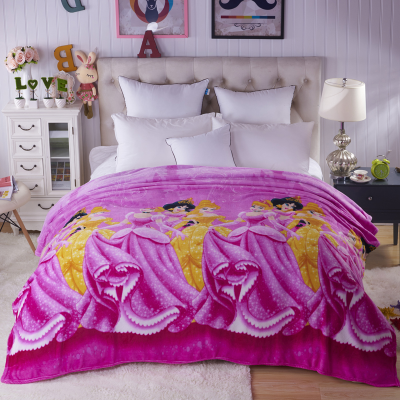 LREA High Density Super Soft A golden key Flannel Blanket For The Sofa Bed Textile Cute Plush Wool Fluffy in Blankets from Home Garden
