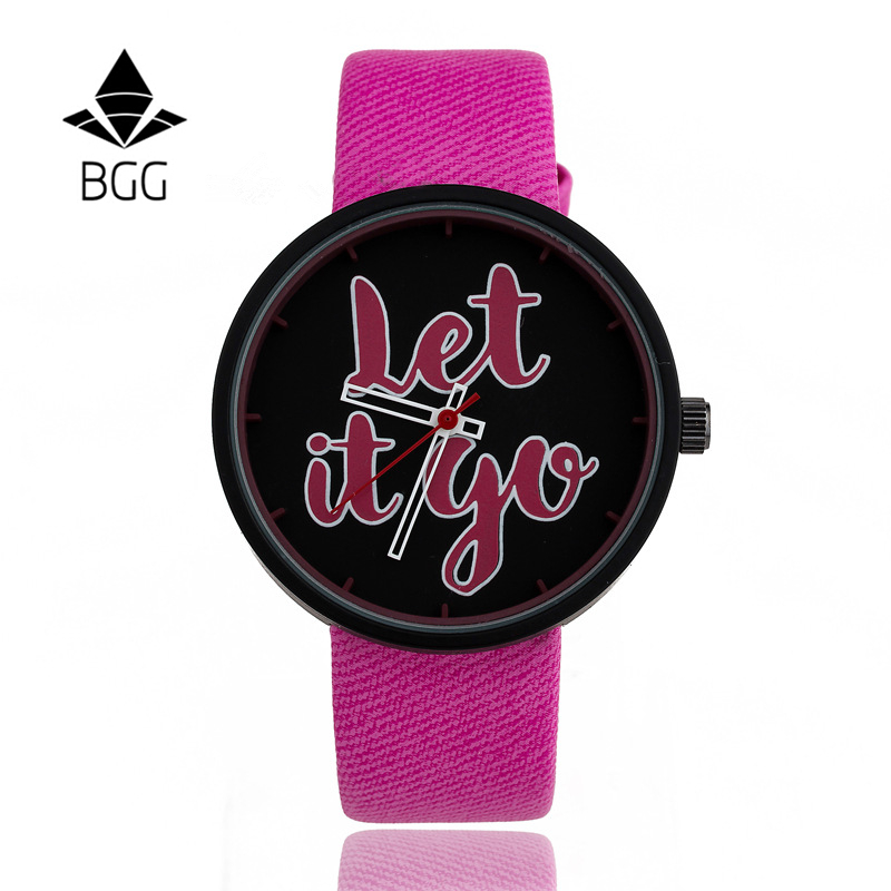 BGG Brand unisex Students Wristwatches Fashion Women Cartoon Person Watch Kids Quartz watch high quality men Casual clock hours