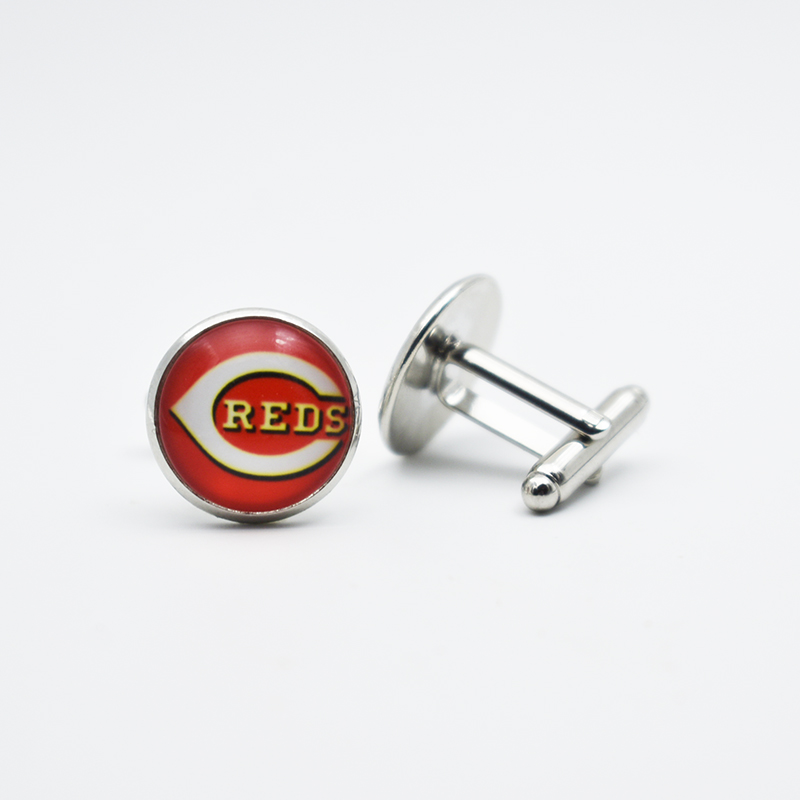 Sports Team Jewelry Cufflinks Cincinnati Reds Baseball Fans Love For Mens Boys Cufflinks ...